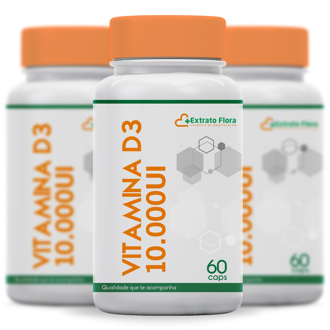 Kit Vitamina D3 10.000UI 60 Cápsulas (3 unidades)