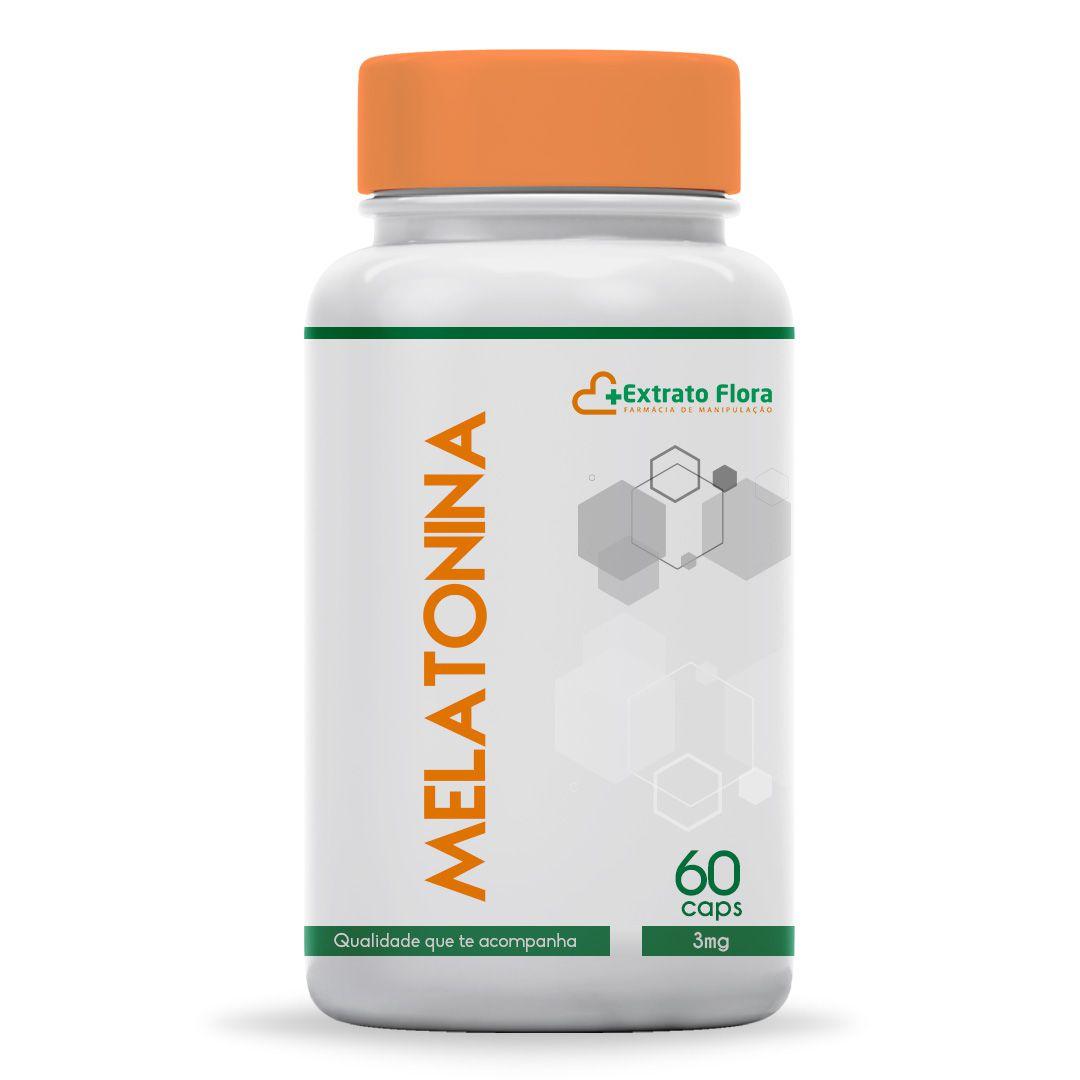 Melatonina 3mg 60 Cápsulas Manipulada
