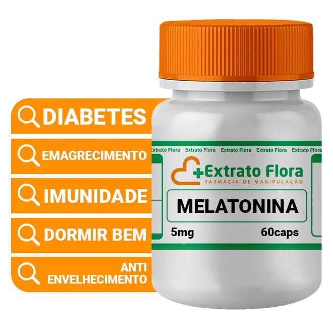 Melatonina 5mg 60 Cápsulas Regular Sono