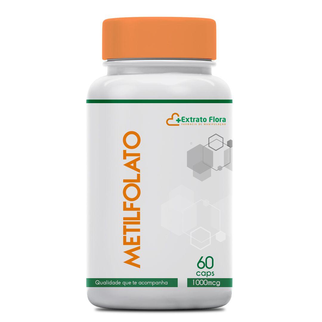Metilfolato 1000mcg 60 Cápsulas forma ativa do ácido fólico