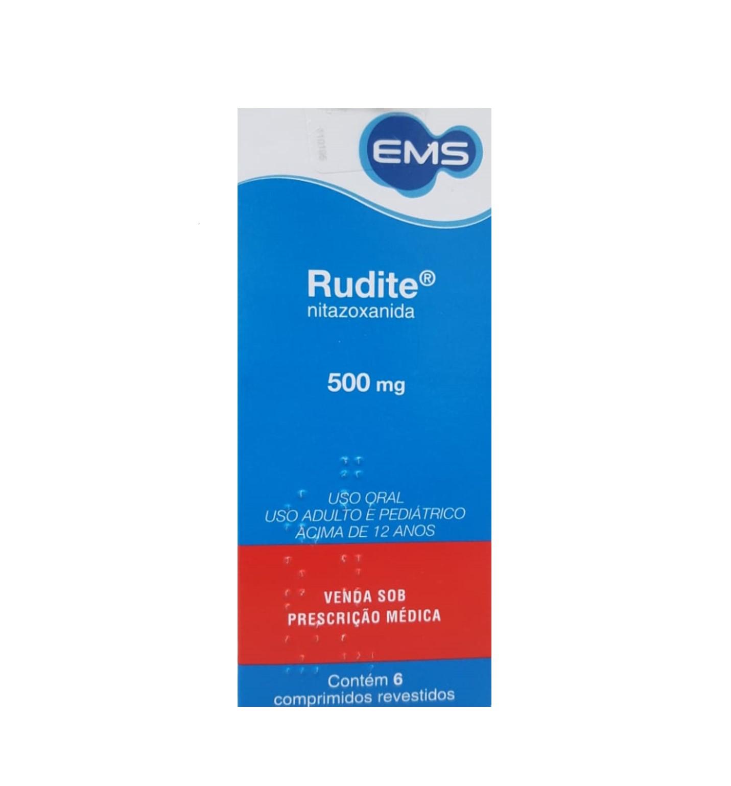 NITAZOXANIDA 500mg 6 Comprimidos (Rudite)