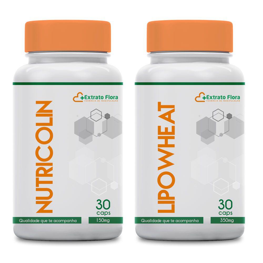 Nutricolin 150mg + Lipowheat 350mg 30 Cápsulas Cada
