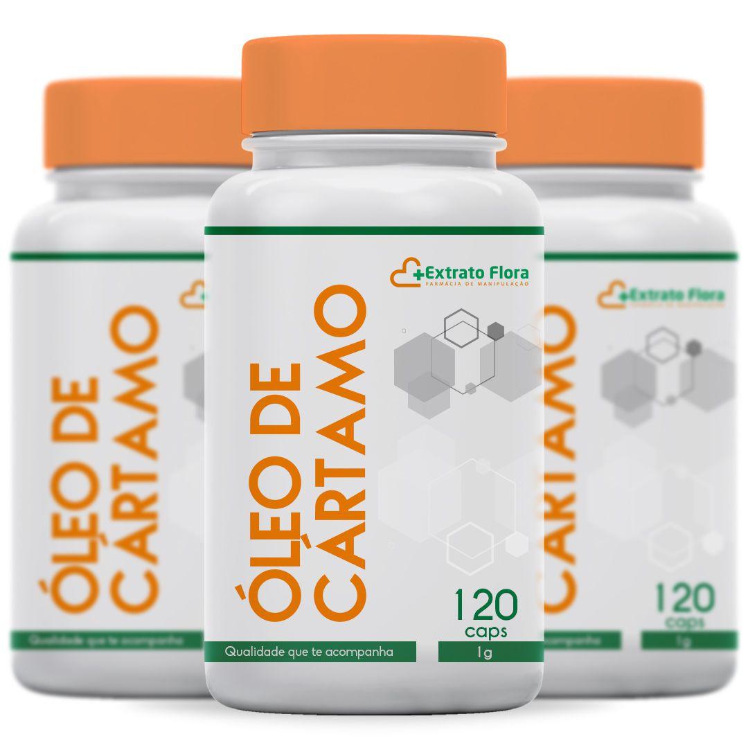 Óleo de Cártamo 1G (3 frascos) 120 Cápsulas cada