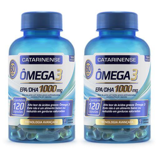 Ômega 3 Catarinense - 1000mg 120 Cápsulas (2 frascos)