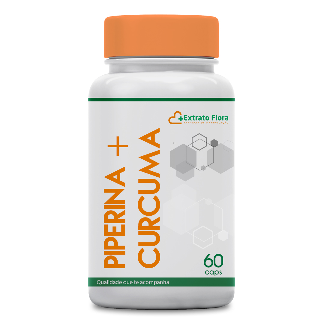 Piperina 10mg + Curcuma 500mg 60 Cápsulas