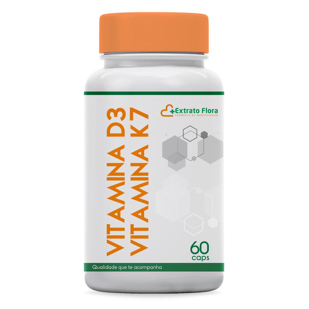 Vitamina D3 10.000 UI + Vitamina K2 (MK-7) 100mcg 60 Cápsulas