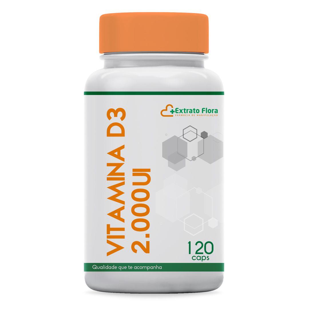 Vitamina D3 2.000UI 120 Cápsulas