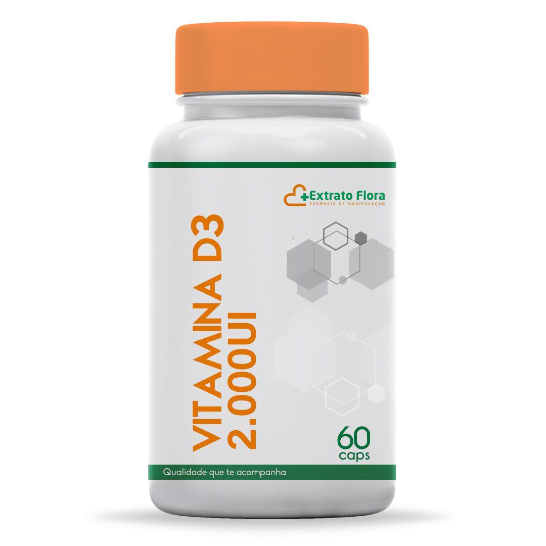 Vitamina D3 2.000UI 60 Cápsulas