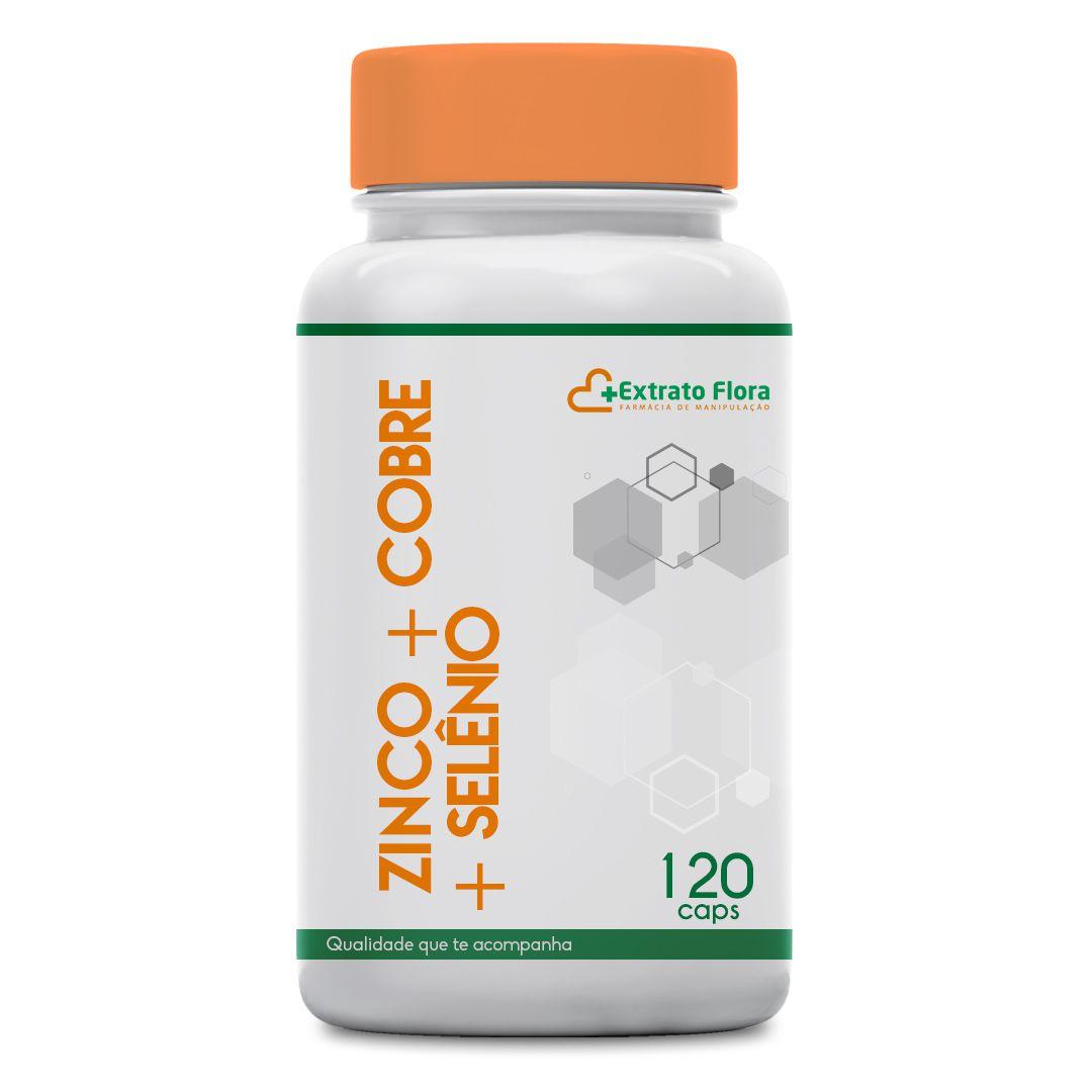 Zinco 30mg + Cobre 2mg + Selênio 200mcg 120 Cápsulas
