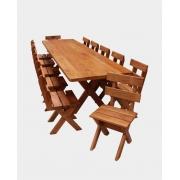 Conjunto Mesa 3,0m + 12 Cadeiras