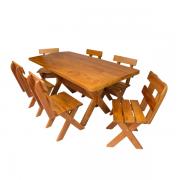 Mesa para Churrasco em Angelim com 6 Cadeiras 1,60m