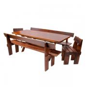 Mesa para Churrasco Modelo Gaudério Escuro