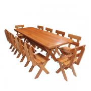 Conjunto Mesa 2,20m + 10 Cadeiras