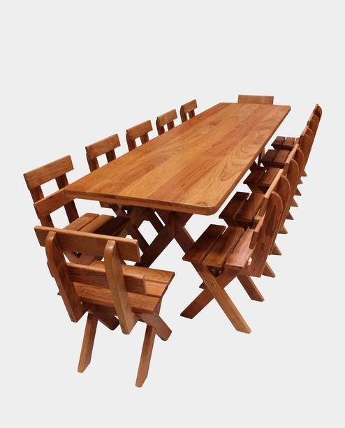 Conjunto Mesa 3,0m + 12 Cadeiras  - Mesas para Churrasco