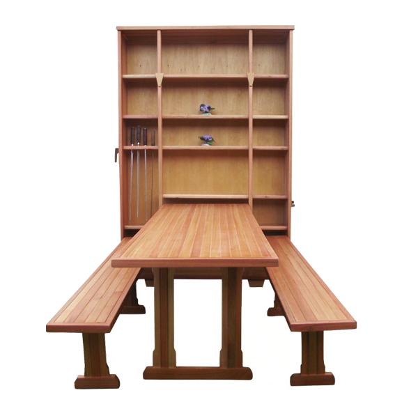 Mesa de Parede Modelo Armário para Churrasco  - Mesas para Churrasco