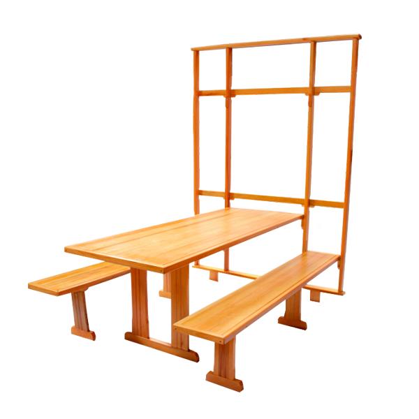 Mesa de Parede para Churrasco com Quadro Inteiro  - Mesas para Churrasco