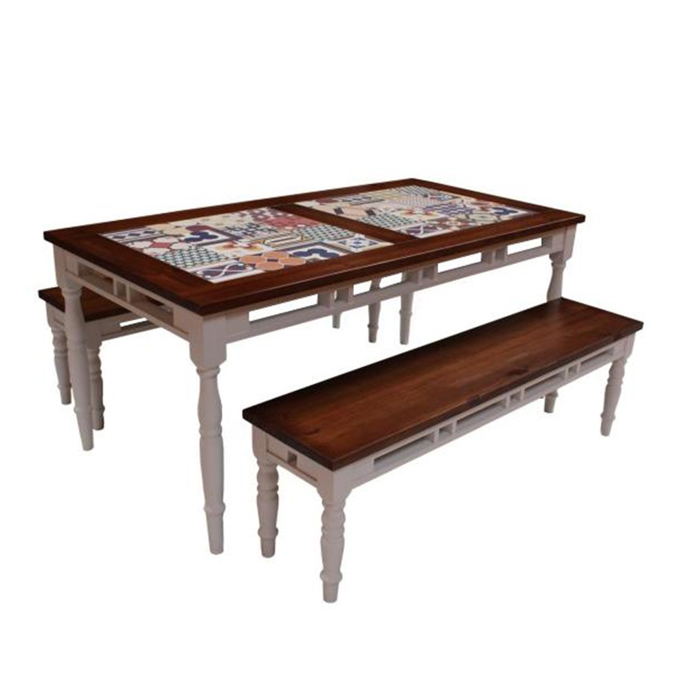 Mesa para Churrasco de Cerâmica Ladrilhos