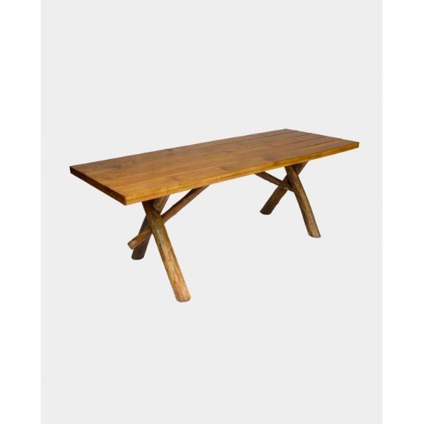 Mesa para Churrasco Rústica + 2 cadeiras  - Mesas para Churrasco