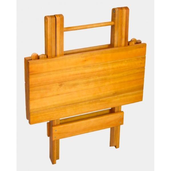 Mesa Quadrada Dobrável para Churrasco com 4 Cadeiras  - Mesas para Churrasco