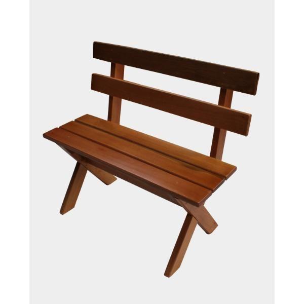 Mini Conjunto para Churrasco Mesa, 02 Bancos e 02 Cadeiras Eucalipto  - Mesas para Churrasco