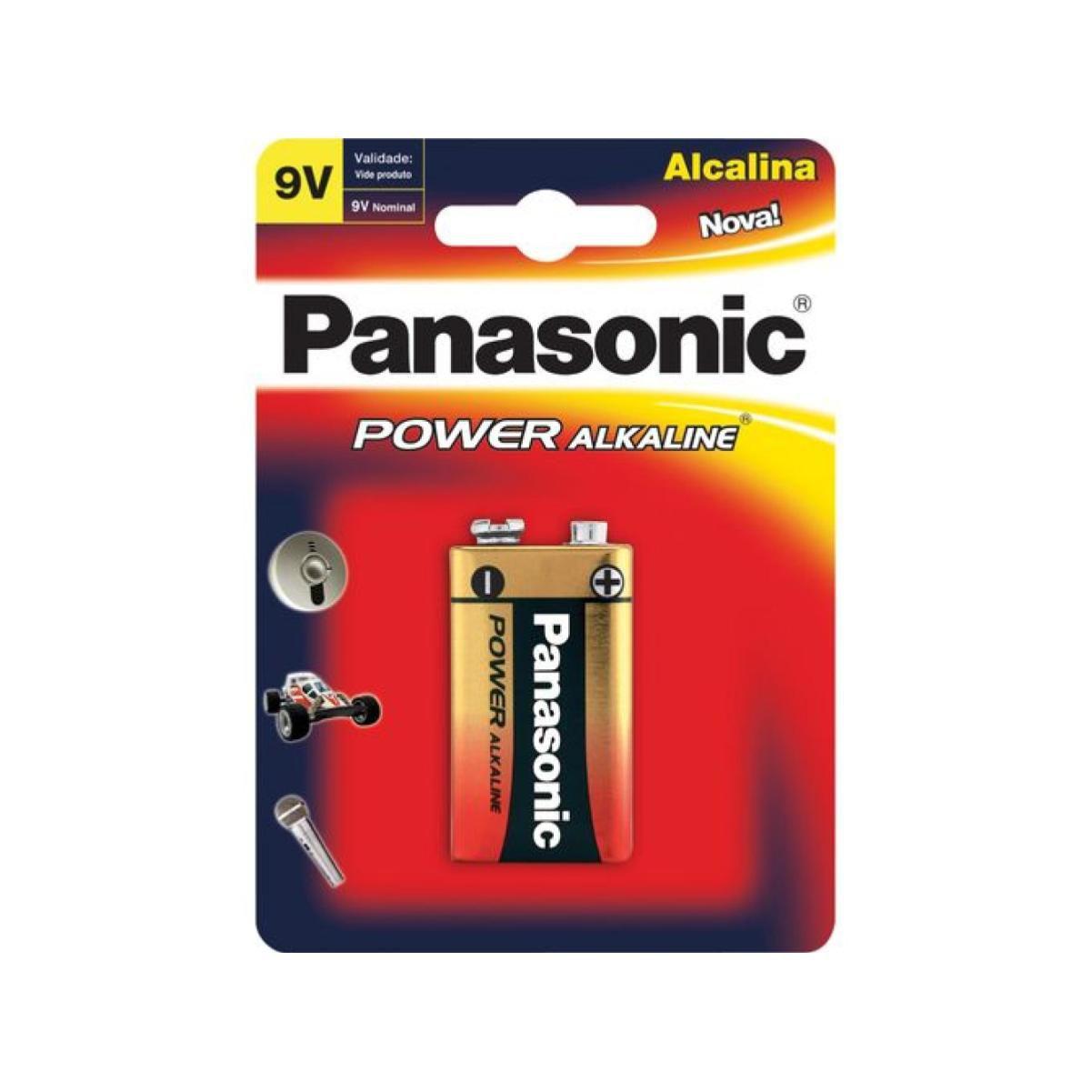 Bateria 9V Alcalina Panasonic