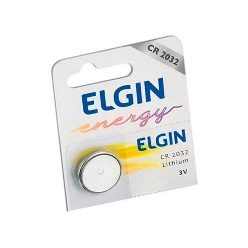 Bateria de Lithium 3V Formato Botão CR2032  Elgin Und