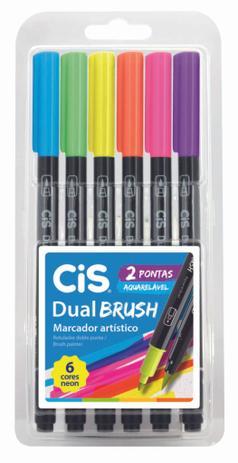Caneta Dual Brush Cis