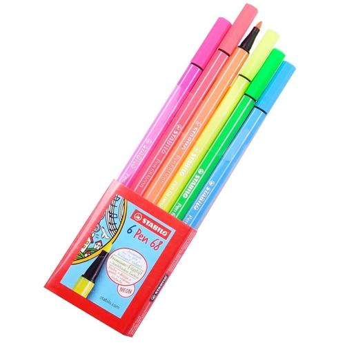 Caneta Pen 68 Neon 6 cores Stabilo