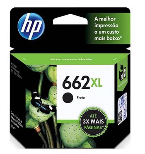 Cartucho 662XL Preto HP CZ105A