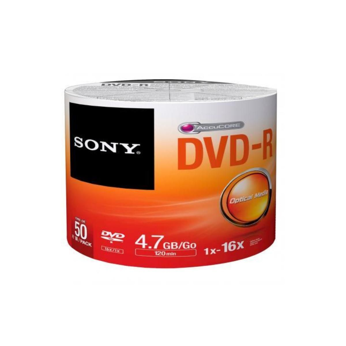 CD-DVD-R 4.7GB 16x 120 Minutos Sony