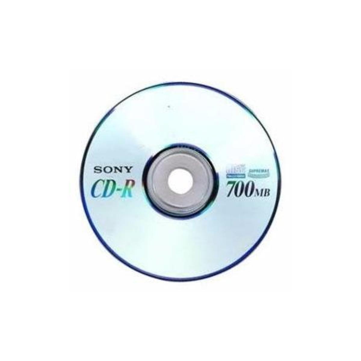 CD-R Grav. 700MB 80 Minutos 48x Com Capa Sony