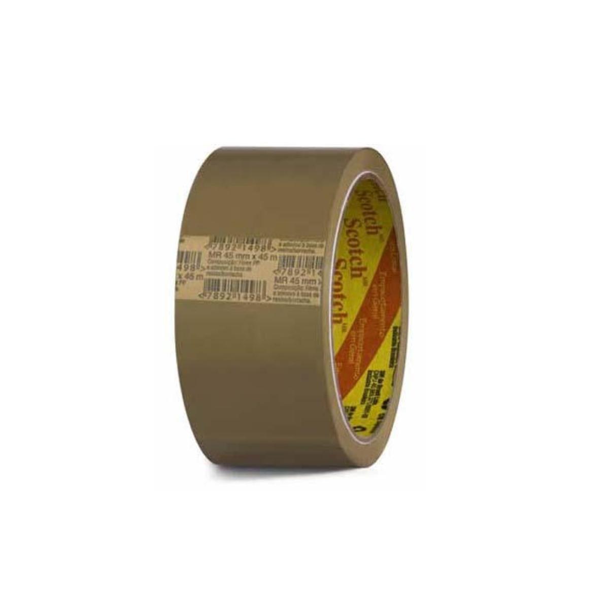 Fita PVC 45x45m Marrom 3M