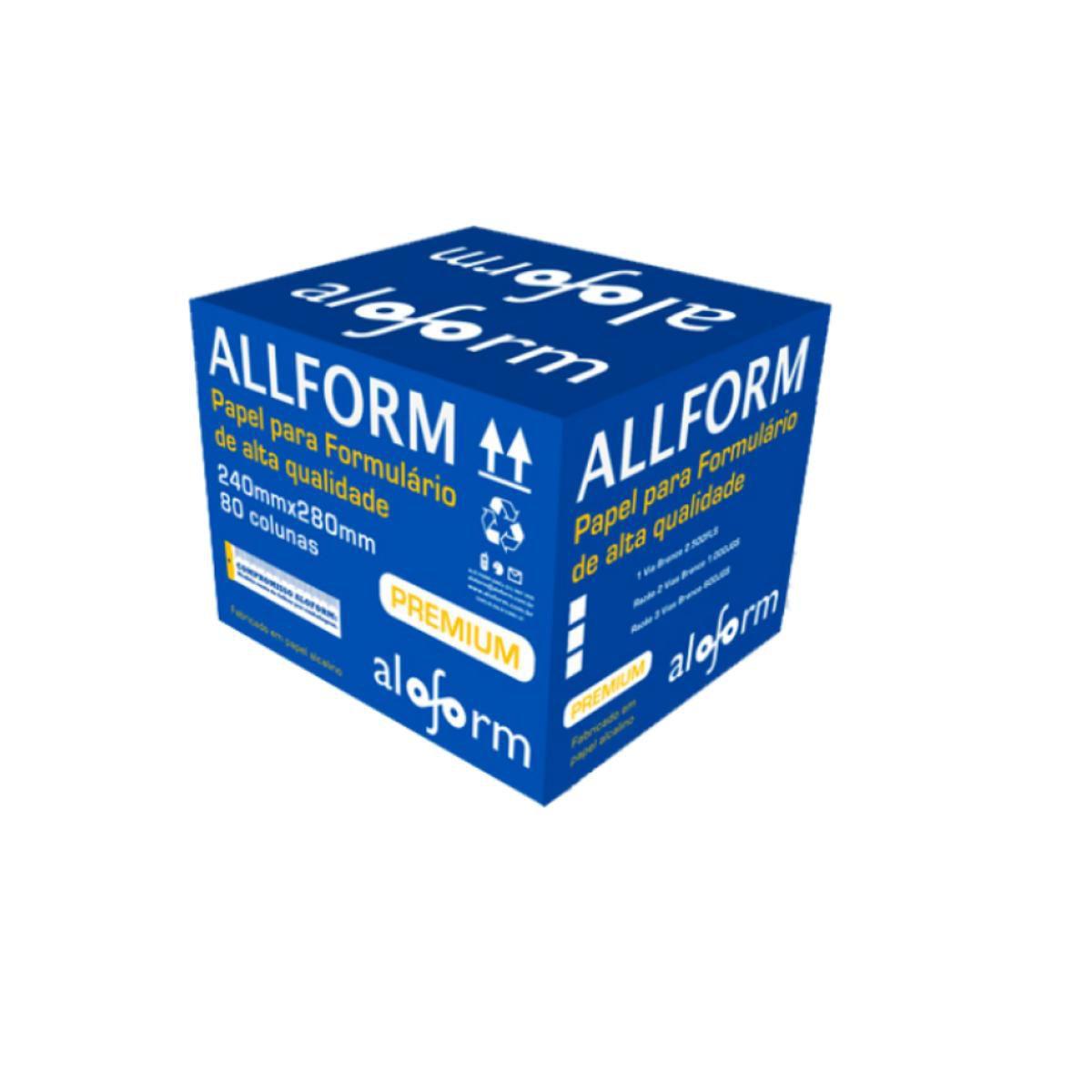 Formulário Contínuo 80 Colunas 1 Via Aloform