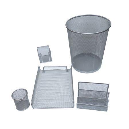 Kit Aramado 5 peças cesto/porta lapis/porta lembrete/porta cartão/papelaeira/porta carta