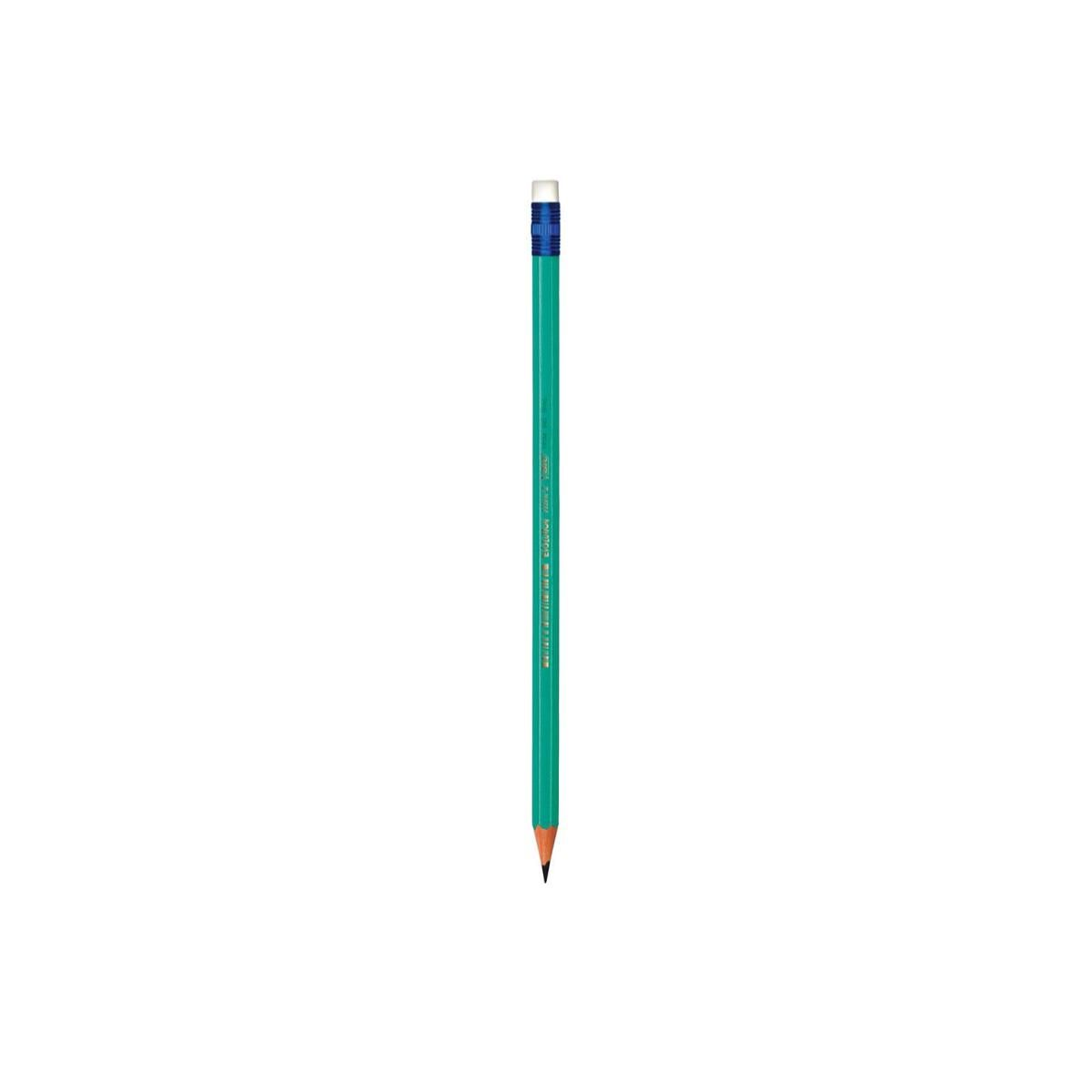 Lápis Preto Hexagonal Com Borracha N.2 Bic