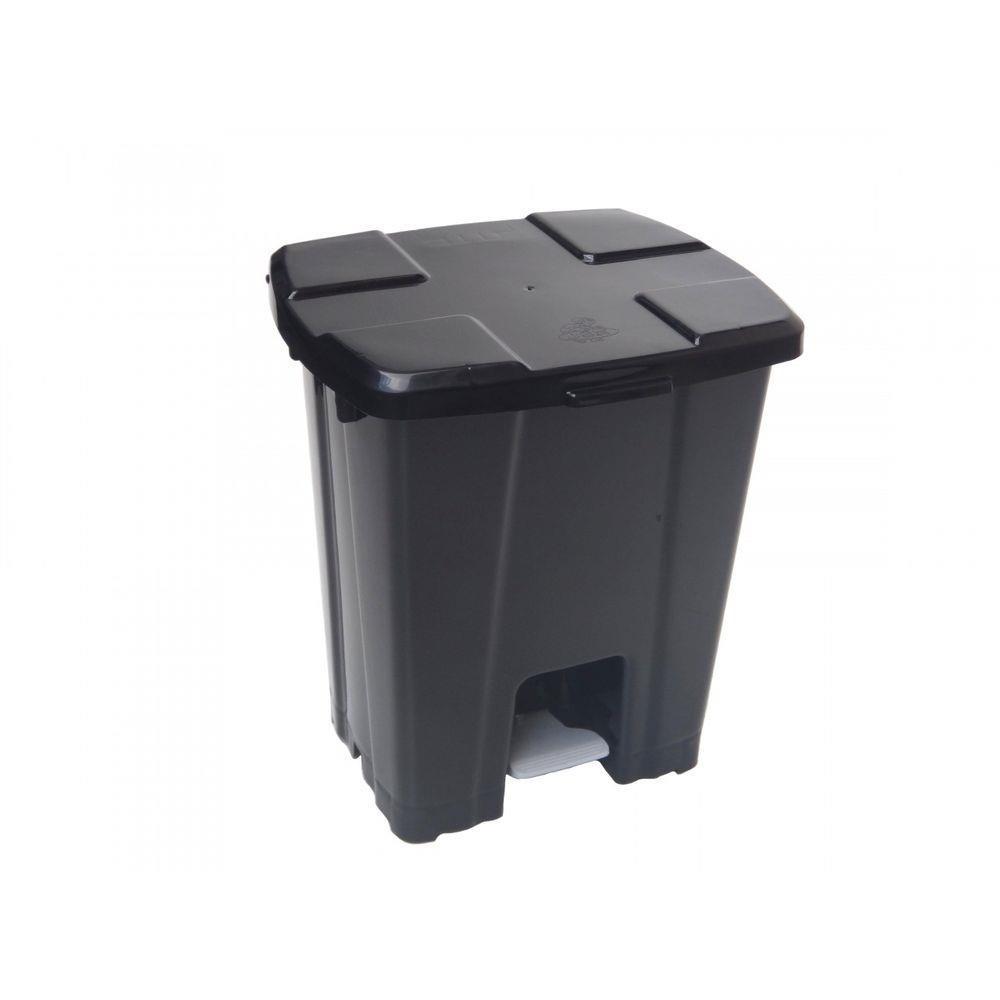 Lixeira Plastica Pedal Quadrado Preto