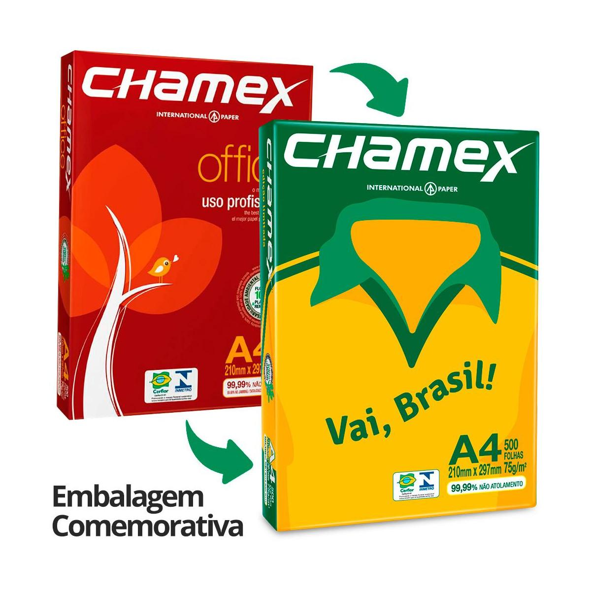 Papel A4 Branco 75g 500 folhas Chamex
