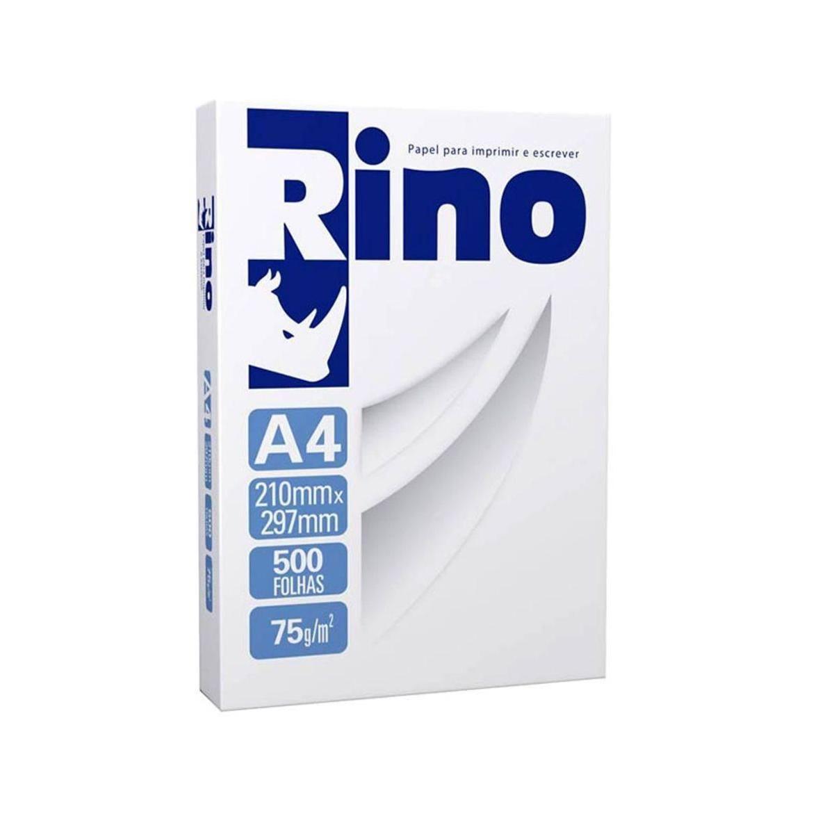 Papel A4 Branco 75g 500 folhas Rino