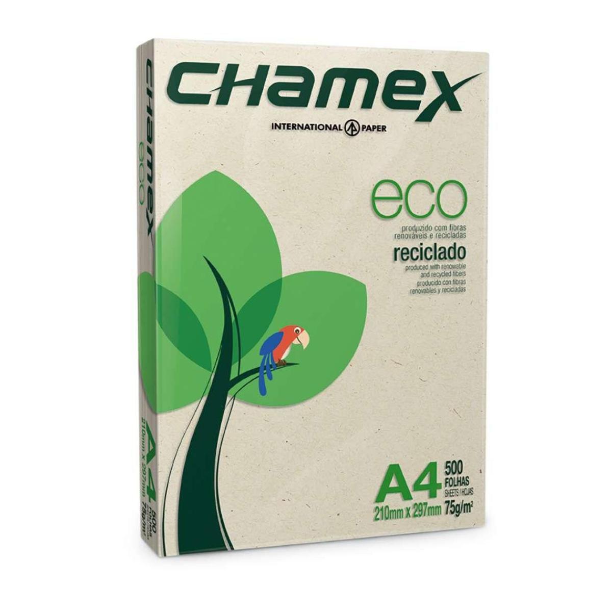 Papel A4 Reciclado Eco 75g 500 Folhas Chamex