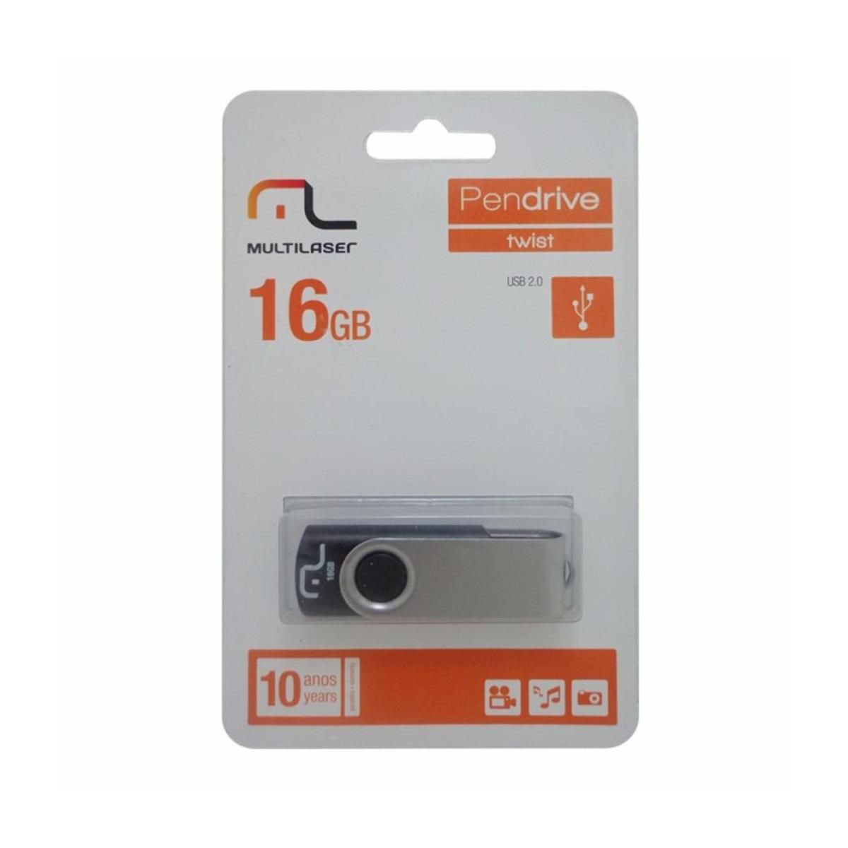 Pendrive 16GB Multilaser