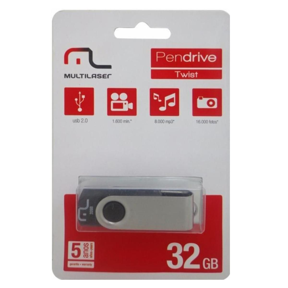 Pendrive 32GB Multilaser