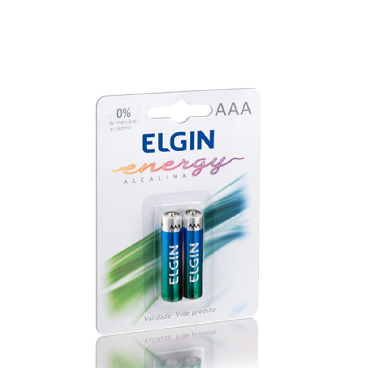 Pilha Alcalina Palito AAA C/2 Uni Elgin