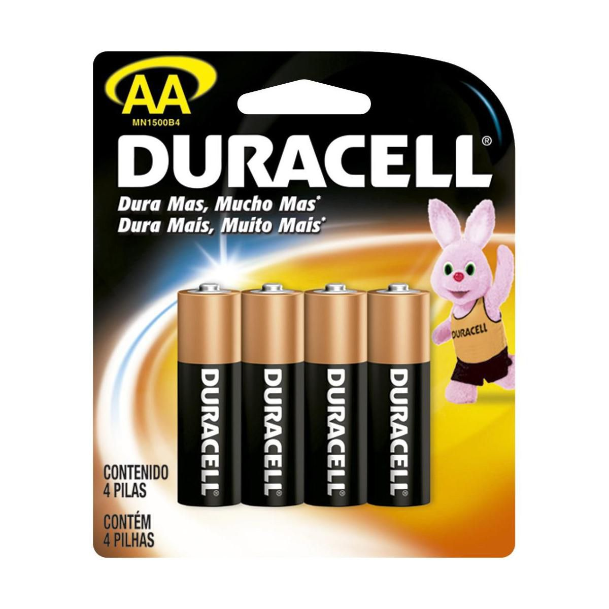 Pilha Pequena Alcalina AA Duracell