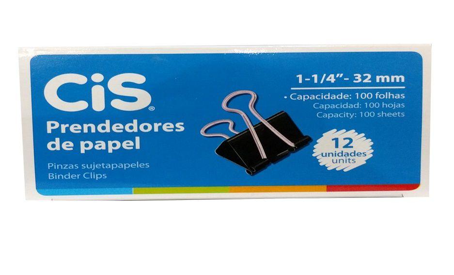 Prendedor de Papel 32 mm Cis Unidade.