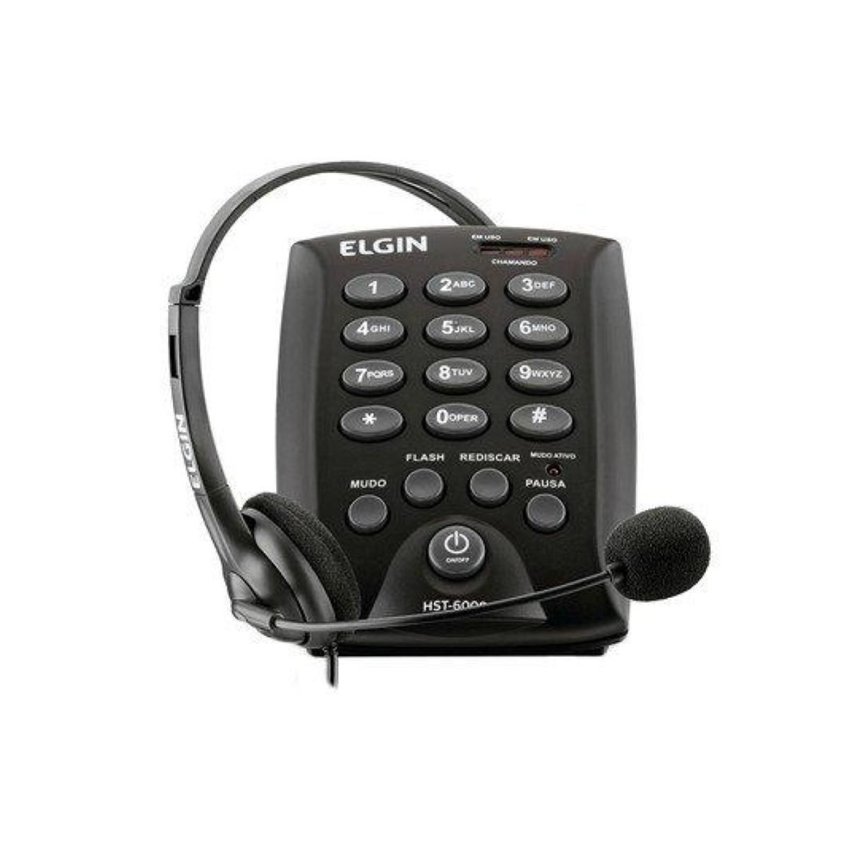 Telefone Headset HST6000 Elgin