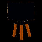 ABAJUR PRETO COM INTERRUPTOR ST40482 33CM - DOMUS
