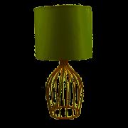 ABAJUR TRABALHADO BEGE/GOLD ST40487 - DOMUS