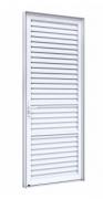Porta de giro de alumínio laminada com ventilação - LUCASA