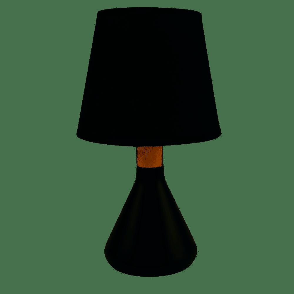 ABAJUR PRETO DE TOUCH ST40480 32CM - DOMUS