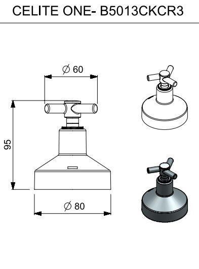 ACABAMENTO DE REGISTRO CELITE ONE 1.1/2 CROMADO B5013CKCR3 - CELITE